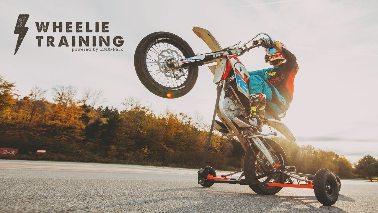 Wheelie Training Powered By Emx Park Youtube