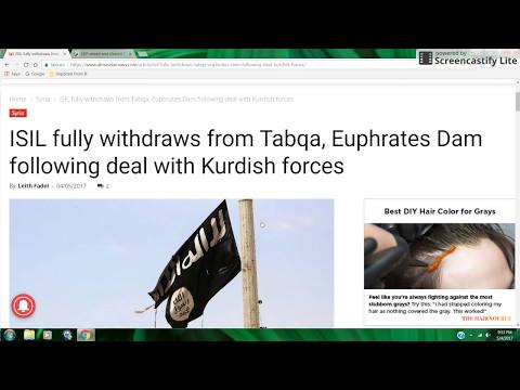 ISIS Exits from Tabqa/Euphrates Dam??? May 2017