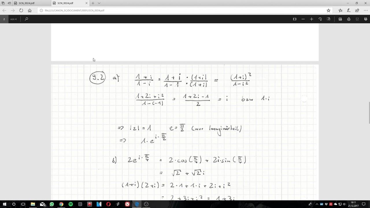 Arbeitsblatt 9 Komplexe Zahlen [Mathematik 1B] - YouTube