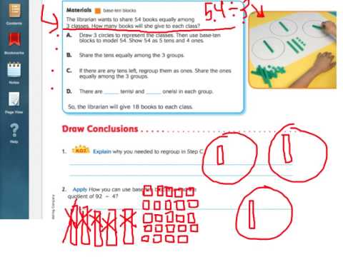 Number Names Worksheets what is regrouping in math : Go Math 4.9 Model Division with Regrouping - YouTube