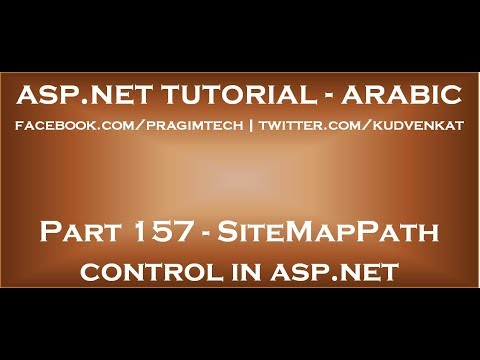 Download SiteMapPath control in asp net in arabic