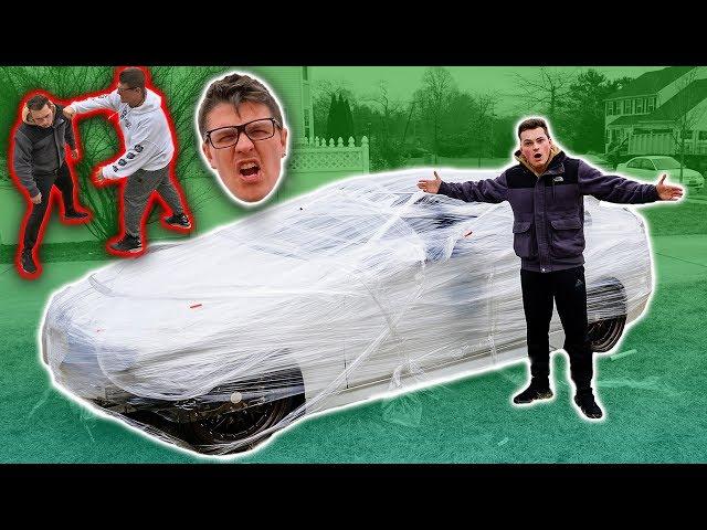 PLASTIC WRAPPED CAR PRANK (PRANK WARS)