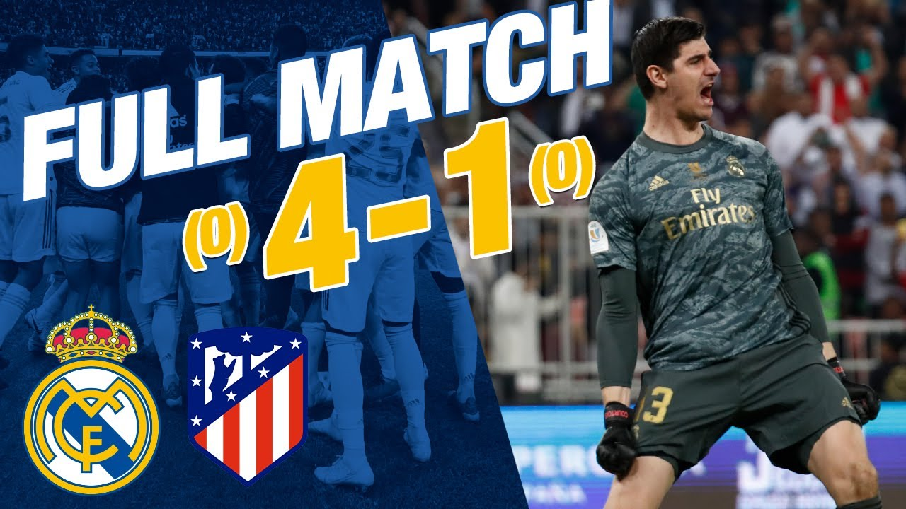 Download FULL MATCH   Real Madrid 0-0 Atlético (4-1 penalties)   Spanish Super Cup 2019/20 final