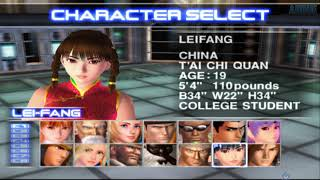 Dead Or Alive 2: Hardcore All Characters [PS2]
