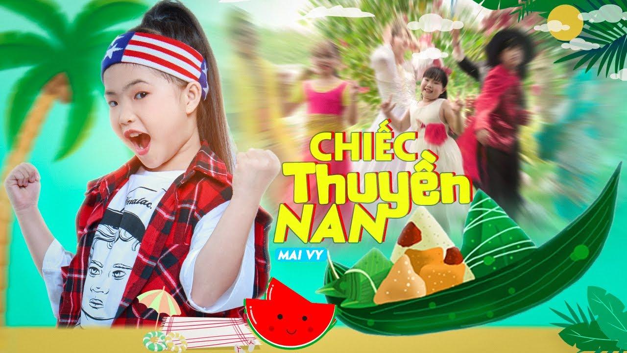 Chiếc Thuyền Nan ♪ Bé MAI VY Thần Đông Âm Nhạc Việt Nam [MV Official] Nhạc Thiếu Nhi Hay Nhất