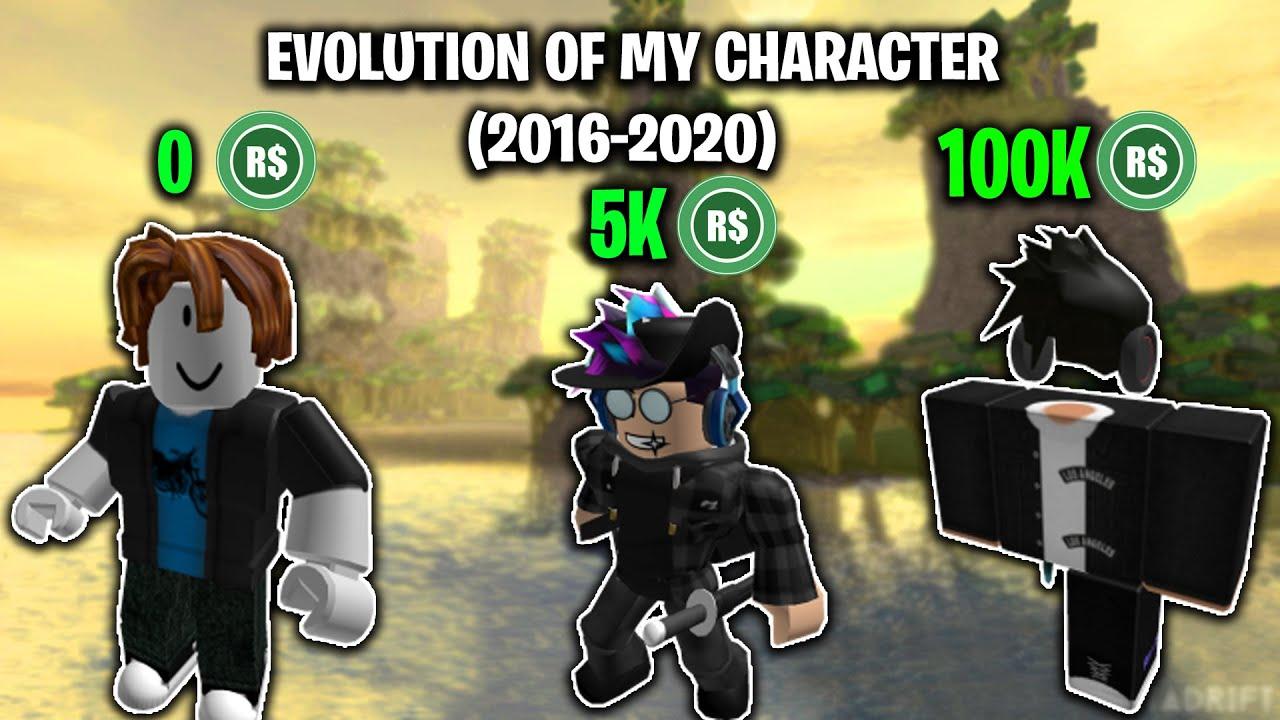 Roblox Avatar Evolution 2016 2020 Youtube