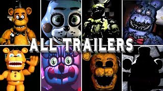 Five Nights at Freddy's VR 1 2 3 4 5 6 7 ALL TRAILERS (Help Wanted)