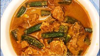 Bhindi Aur Mutton Ka Korma l Old Hyderabadi Recipe l Bhendi Khorma l By Mrs. Norien