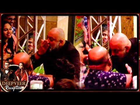 Sanjay Dutt Kisses MEDIA Reporters At Ranveer Deepika Mumbai Reception Party 2018
