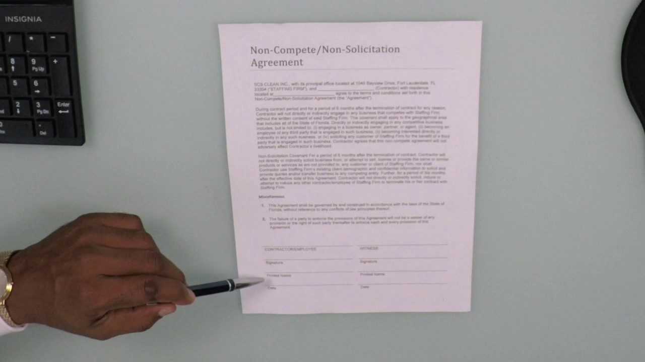 Non Compete Non Solicitation Agreement Eng Youtube