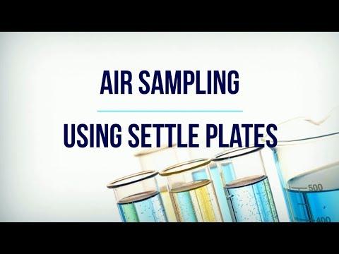Air Sampling Using Settle Plates