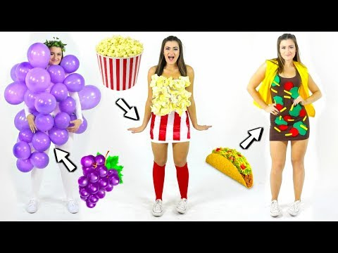 DIY Food Costumes! Last-Minute Halloween Costume Ideas!