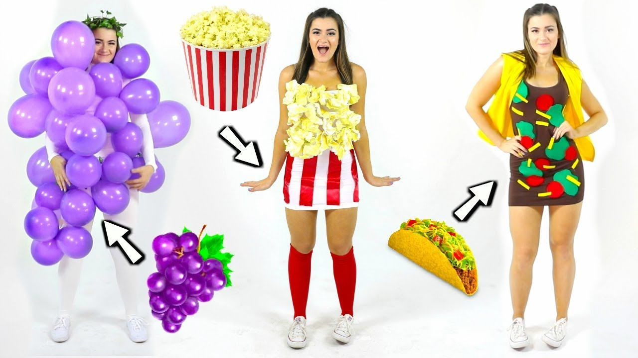 DIY Food Costumes! Last-Minute Halloween Costume Ideas!