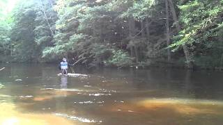 Fly fishing for greyling Poland