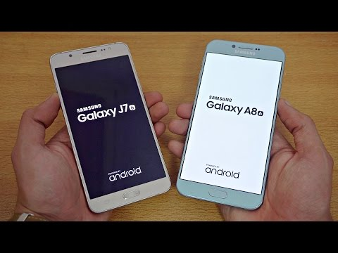 Samsung Galaxy A8 (2016) vs Galaxy J7 (2016) - Speed Test! (4K)