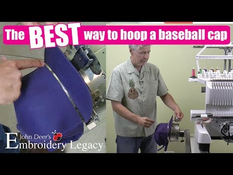How to Hoop Caps & Hats for Machine Embroidery Using Stations, Jigs