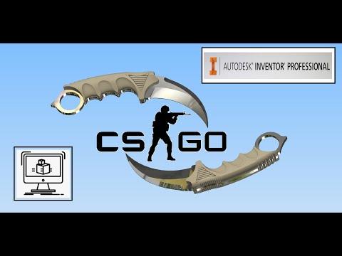 Поверхностное моделирование в Autodesk Inventor, нож Керамбит CS GO