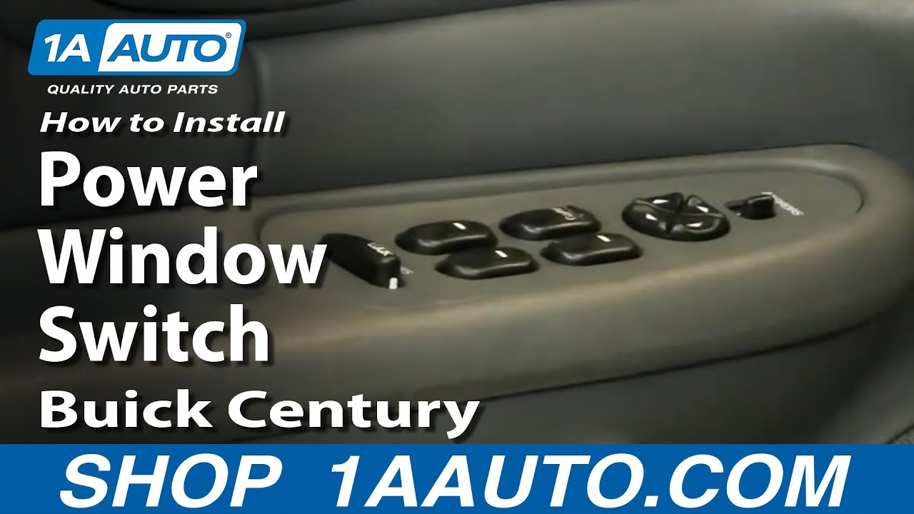 How To Replace Power Window Switch 97 05 Buick Century