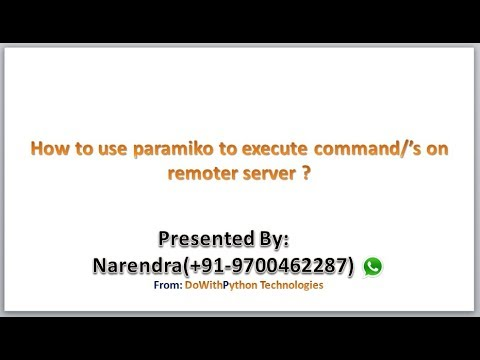 How To Use Paramiko Module To Execute Commands On Remote Server ?