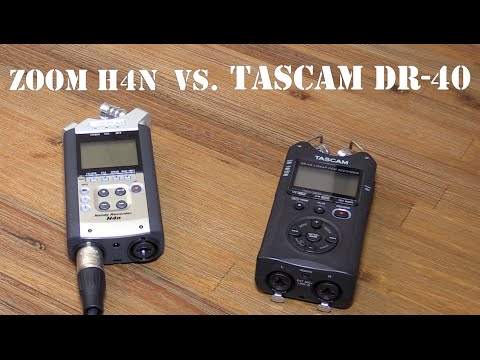 tascam dr 40 vs zoom h4n road to cinema tech 1 audio recorder review youtube. Black Bedroom Furniture Sets. Home Design Ideas