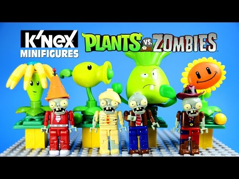 K'NEX Plants Vs. Zombies Mystery Figures Blind Bags Series 1 W/ Peashooter Sunflower & Bonk Choy