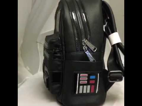 8032754427a Loungefly Star Wars Darth Vader Mini Backpack! - YouTube