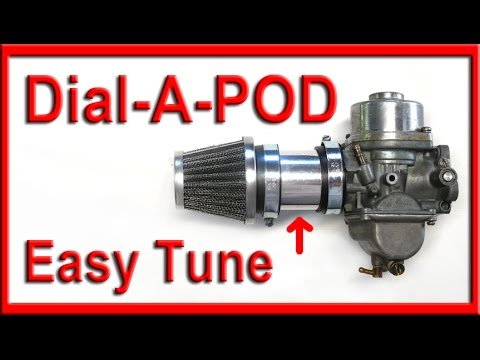 how to easily tune pod filters for motorcycle carburetors with new diy kit
