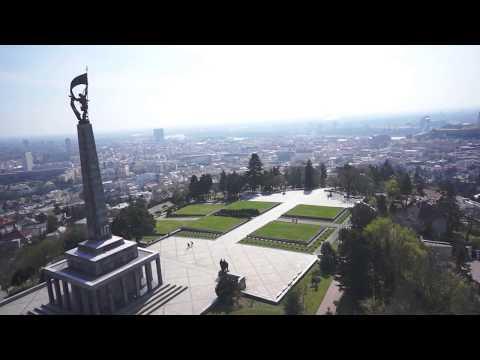 Slavin War Memorial in Bratislava Slovakia | FPV