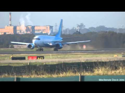 Air Nauru Boeing 737-36N [VH-PNI] | Takeoff Runway 01 | Brisbane Airport (FULL HD)