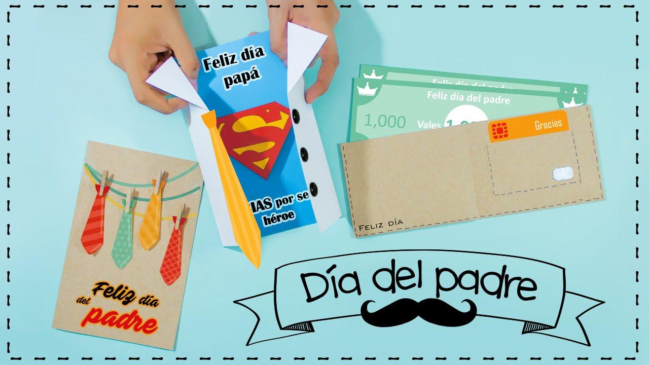 DIY Las tarjetas de felicitación mas lindas! para PAPÁ YouTube