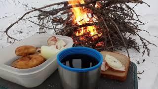 На разведку на новое озеро Озеро Ветренное Зимняя рыбалка в Ленинградской области