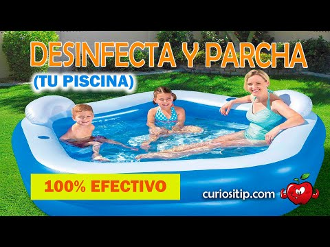 Sepa como desinfectar y parchar su piscina inflable youtube for Como mantener el agua limpia de un estanque