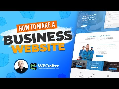 How to Make A Business Website Using WordPress & Elementor P