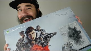 Unboxing the Xbox One X Gears 5 Limited Edition Bundle!!