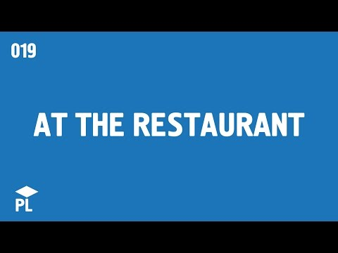 Learn European Portuguese (Portugal) - At the restaurant