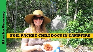 Foil Packet Chili Dogs In A Campfire