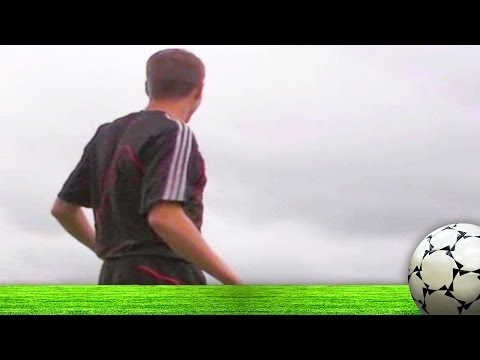 Steven Gerrard's powerful shot hits pigeon!