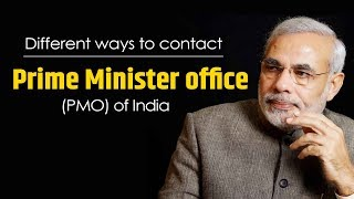 Different ways to contact Prime Minister office (PMO) of India