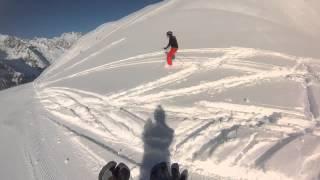 Snowboarding at Mont Blanc