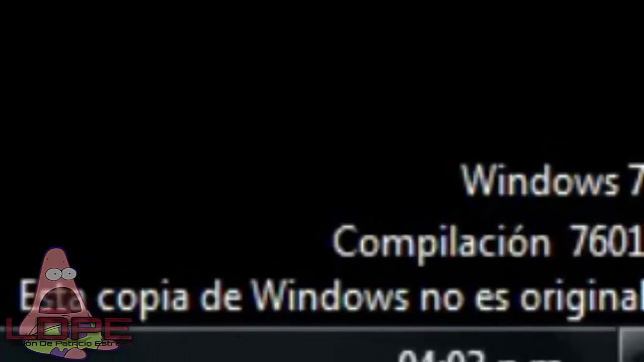 crack para windows 7 compilacion 7601