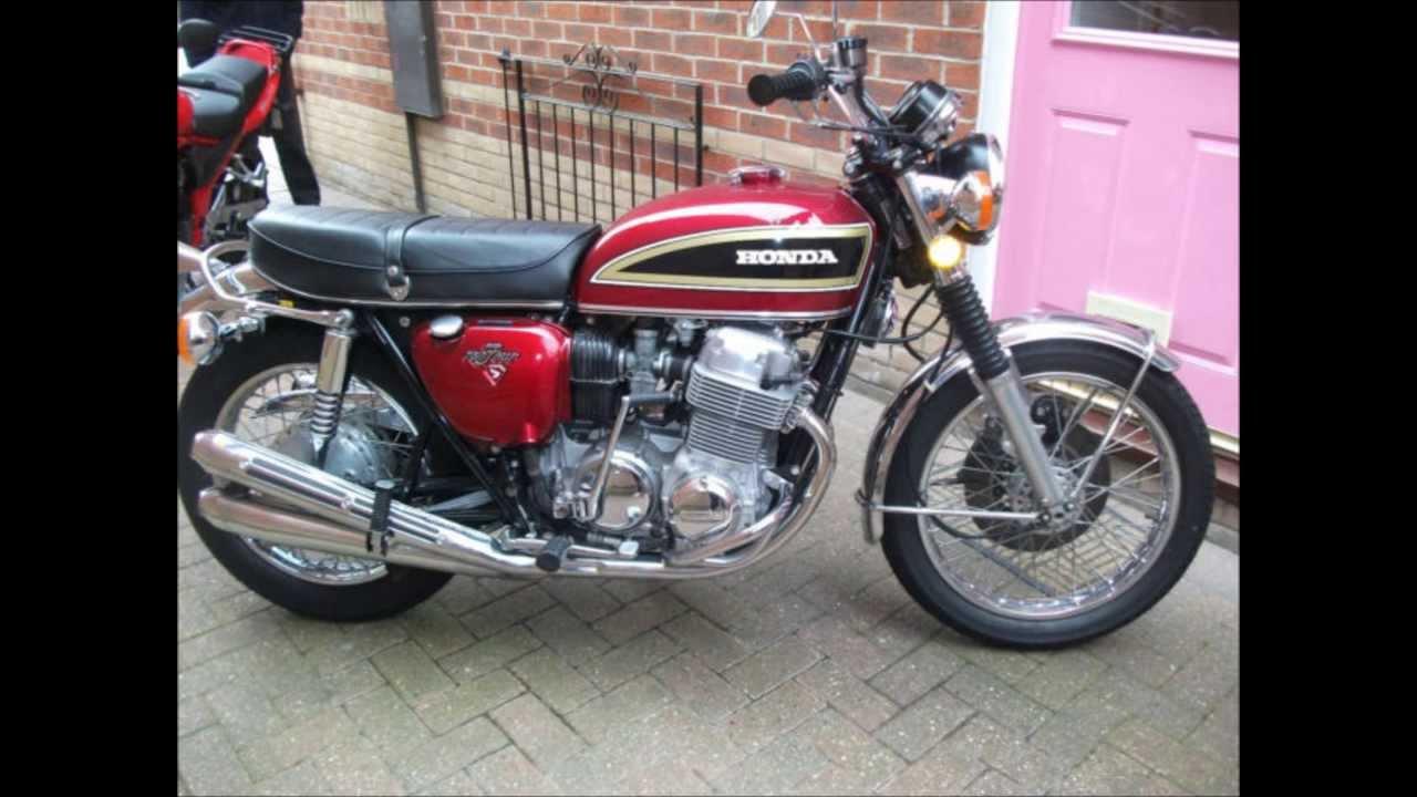 Honda CB750 K6 Restored Classic Motorcycle from 1976 - YouTube