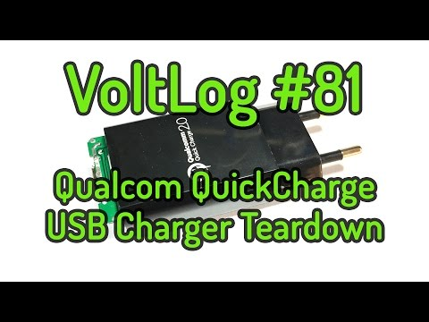 Voltlog #81 - Qualcomm QuickCharge USB Charger Teardown