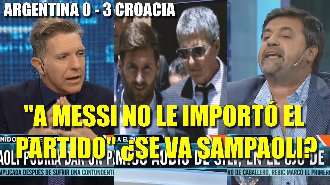 """Caruso Lombardi con Fantino destroza al entorno Messi, Sampaoli y Caballero: """"Hoy no dieron la cara"""""""