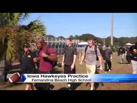 Hawkeyes work out at Fernandina Beach High School