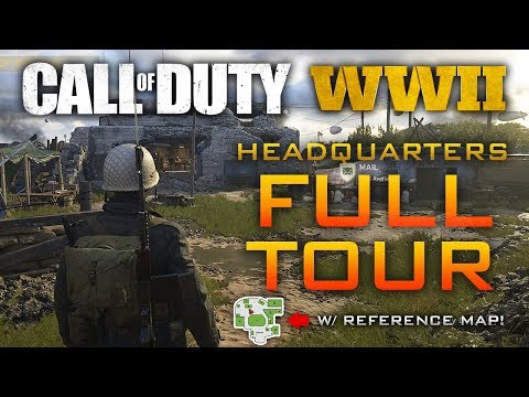 Call of Duty: WWII Headquarters Guided Tour! Complete Breakdown of New Social Space w/ Reference Map