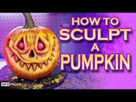 How To Sculpt A Pumpkin