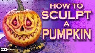 How To Sculpt A Simple Pumpkin for Halloween