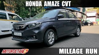 Honda Amaze Petrol CVT Mileage in City | Hindi | Motoroctane
