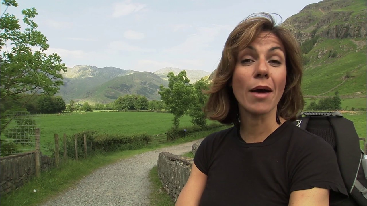 Julia Bradbury follows the Wainwright Walks on Crinkle ...
