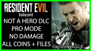 Resident Evil 7 Not a Hero DLC - Professional Mode, No Damage, All Coins, All Files Walkthrough